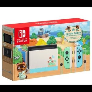 LIMITED EDITION ANIMAL CROSSING SWITCH CONSOLE